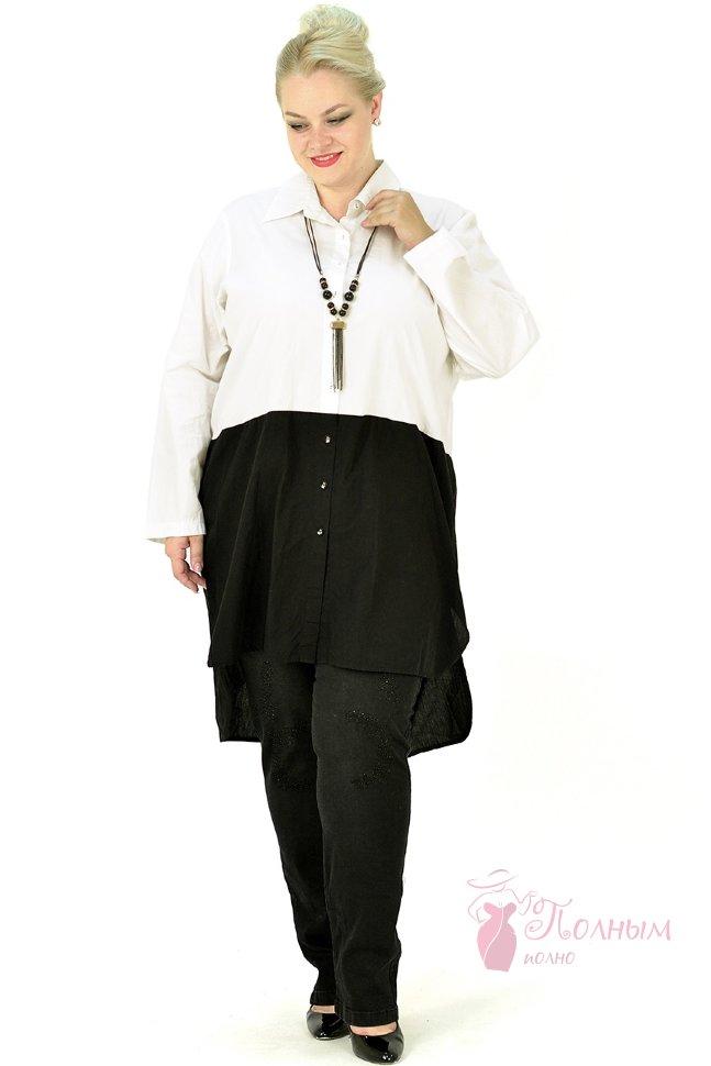 70496286f61 25-0499 Рубашка-туника LUUKAA хлопок большого размера 52-54-56-58-60 ...
