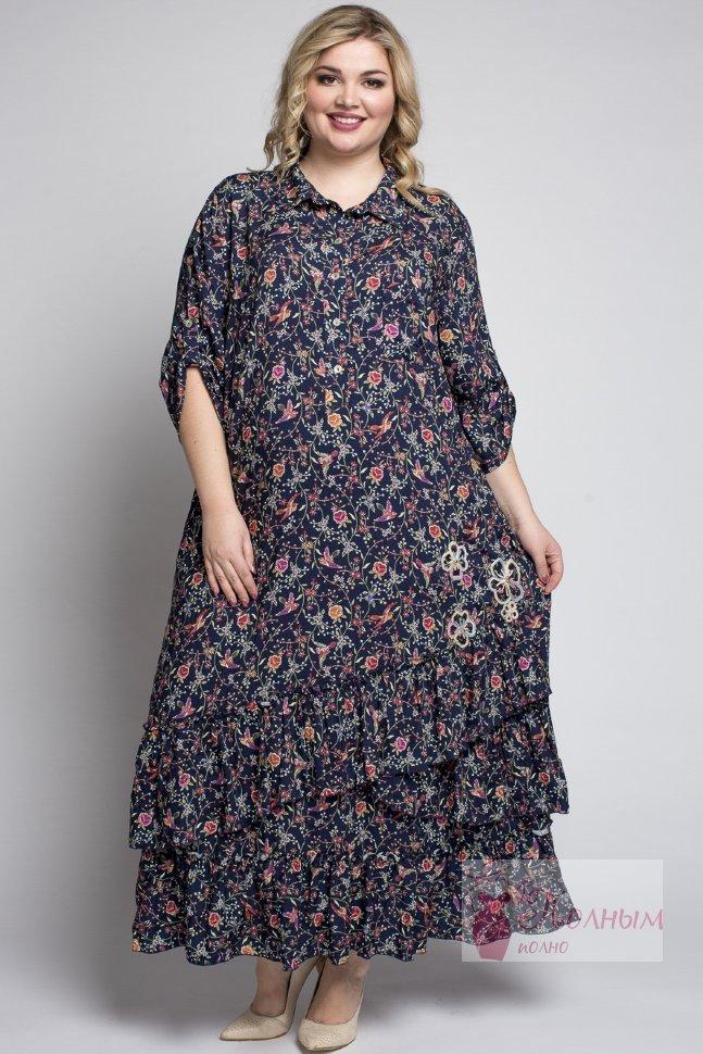 ddb682461a8be2c 24-9470 Платье из штапеля в мелкий цветочек DARKWIN