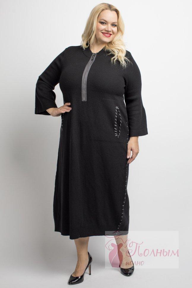 473a8134cc5 25-0361 Платье черное DARKWIN шерсть ламы купить в интернет-магазине ...