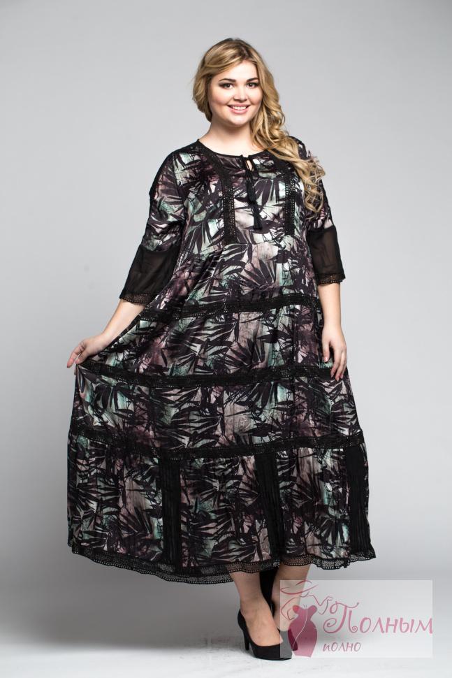 101794d572b 25-0244 Платье нарядное LISSMORE шифон с подкладом большого размера ...